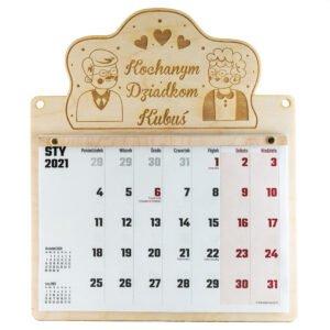 Grawerowany kalendarz dla dziadków