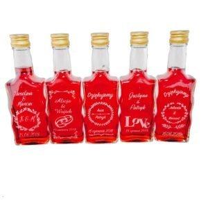 Ślubne butelki na nalewki 200 ml